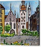 Old Town Hall Munich Germany Acrylic Print by Irina Sztukowski
