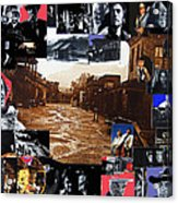 Old Tucson Arizona Composite Of Artists Performing There 1967-2012 Acrylic Print by David Lee Guss