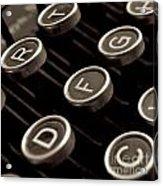 Old Typewriter Acrylic Print by Bernard Jaubert