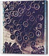 Old Typewriter Keys Acrylic Print by Garry Gay