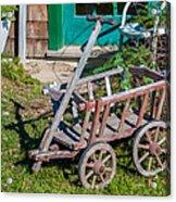 Old Wagon Acrylic Print by Guy Whiteley