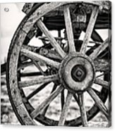 Old Wagon Wheels Acrylic Print by Jane Rix