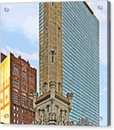 Old Water Tower Chicago Acrylic Print by Christine Till