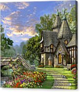 Old Waterway Cottage Acrylic Print by Dominic Davison