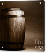 Old Whisky Barrel Acrylic Print by Olivier Le Queinec