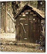 Old Wooden Shed Yosemite Acrylic Print by Jane Rix