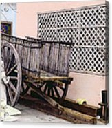 Old Wooden Wagon Acrylic Print by Marilyn Hunt