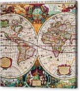 Old World Map Acrylic Print by Csongor Licskai