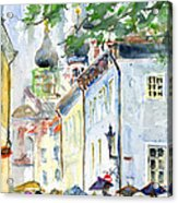 Oldtown Tallinn Estonian Acrylic Print by John D Benson
