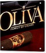Oliva Cigar Still Life Acrylic Print by Tom Mc Nemar