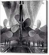 Titanic Propellers 1911 Acrylic Print by Stefan Kuhn