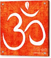 Om Spice Acrylic Print by Linda Woods