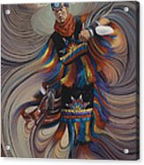On Sacred Ground Series II Acrylic Print by Ricardo Chavez-Mendez