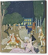 On The Lawn Acrylic Print by Georges Barbier