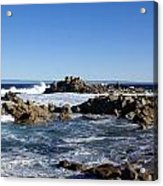 On The Rocks Acrylic Print by Barbara Snyder