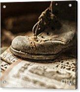 One Single Shoe Acrylic Print by Terry Rowe