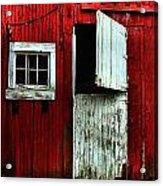 Open Barn Door Acrylic Print by Julie Dant