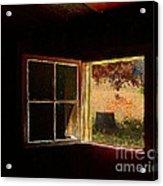 Open Cabin Window II Acrylic Print by Julie Dant