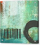 Open Gate- Contemporary Abstract Painting Acrylic Print by Linda Woods