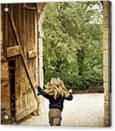 Open Gate Acrylic Print by Heiko Koehrer-Wagner