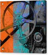 Orange And Blue  Acrylic Print by Ann Powell