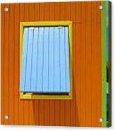 Orange Cabin Acrylic Print by Randall Weidner