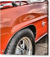Orange Chevelle Ss 396 Acrylic Print by Dan Sproul
