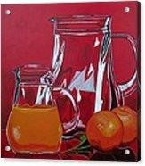 Orange Juggle Acrylic Print by Sandra Marie Adams