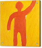Orange Person Acrylic Print by Igor Kislev