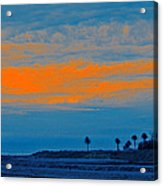 Orange Sunset Acrylic Print by Ben and Raisa Gertsberg