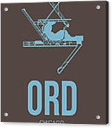 Ord Chicago Airport Poster 2 Acrylic Print by Naxart Studio