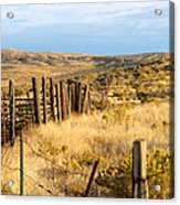 Oregon Corral Acrylic Print by Betty LaRue