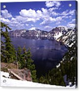 Oregon Crater Lake  Acrylic Print by Anonymous