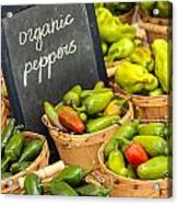 Organic Peppers At Farmers Market Acrylic Print by Teri Virbickis
