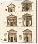 Origin And Development Of Architecture Acrylic Print by Splendid Art Prints
