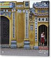 Ornate Buildings In The City Centre Of Hanoi Acrylic Print by Sami Sarkis