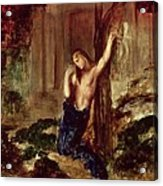 Orpheus At The Tomb Of Eurydice Acrylic Print by Gustave Moreau