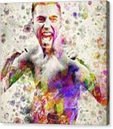 Oscar De La Hoya Acrylic Print by Aged Pixel