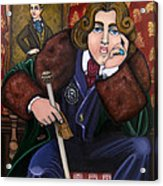 Oscar Wilde And The Picture Of Dorian Gray Acrylic Print by Victoria De Almeida