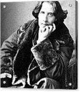 Oscar Wilde In His Favourite Coat 1882 Acrylic Print by Napoleon Sarony