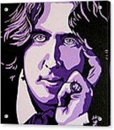 Oscar Wilde Acrylic Print by Rebecca Mott