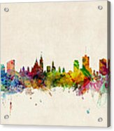 Ottawa Skyline Acrylic Print by Michael Tompsett