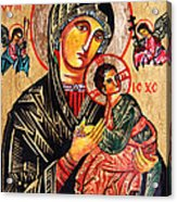 Our Lady Of Perpetual Help Icon Acrylic Print by Ryszard Sleczka