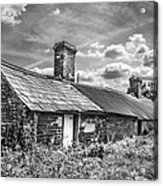 Outbuildings. Acrylic Print by Gary Gillette