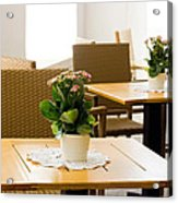 Outdoor Dining Tables Acrylic Print by Pati Photography