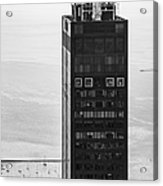 Outside Looking In - Willis Tower Chicago Acrylic Print by Adam Romanowicz