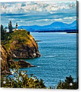 Overlooking Acrylic Print by Robert Bales
