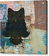 Owl Of Wisdom Acrylic Print by Kyle Wood