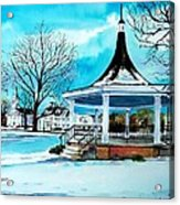 Oxford Bandstand Acrylic Print by Scott Nelson
