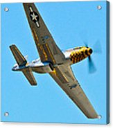 P-51 Mustang Wing Over Acrylic Print by Puget  Exposure